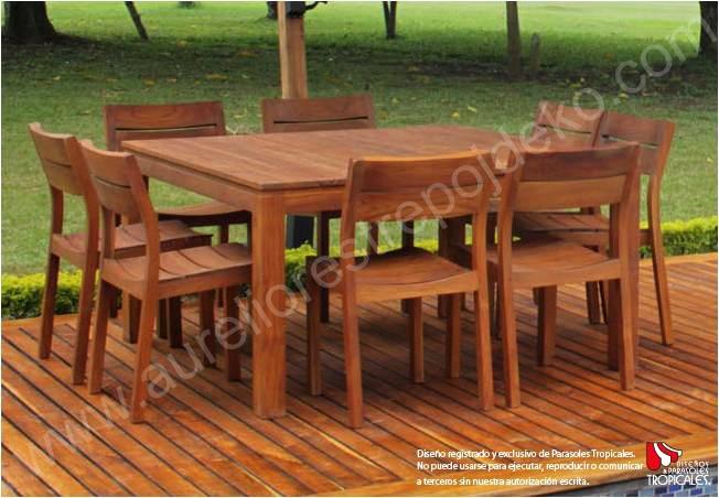 Muebles comedor teca 20170905003126 for Comedores exteriores para terrazas